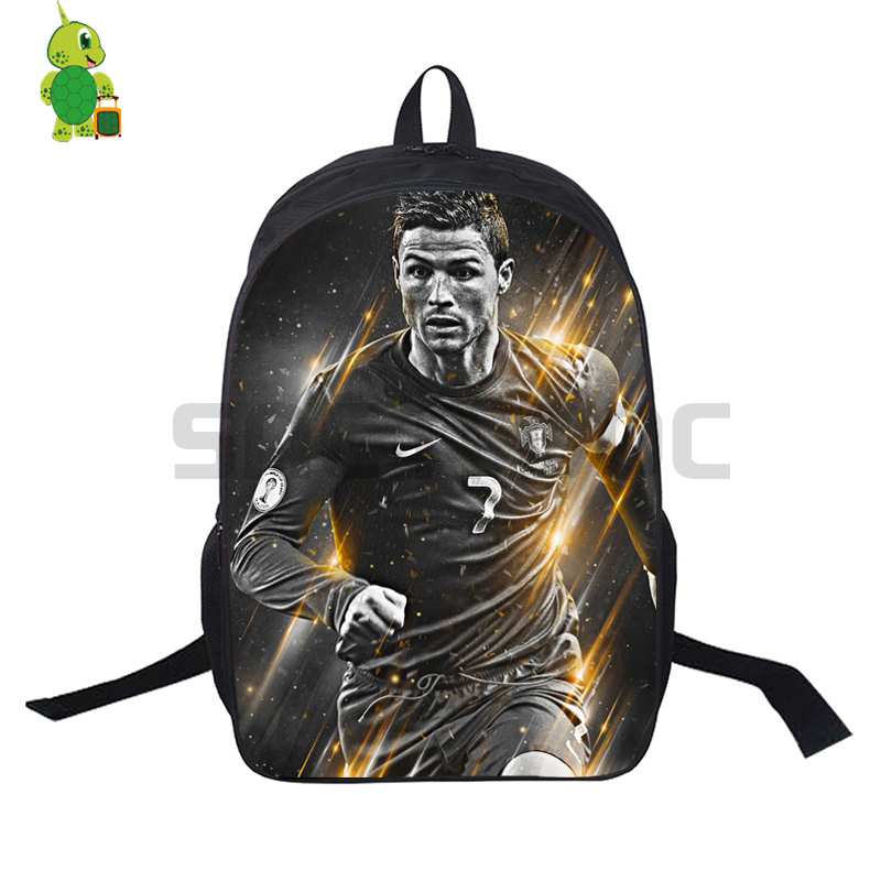 Famous Cristiano Ronaldo 7 School Bag For Teenage Boys Girls Daily Backpack Laptop Backpack Cr7 Women Men Travel Shoulder Bags