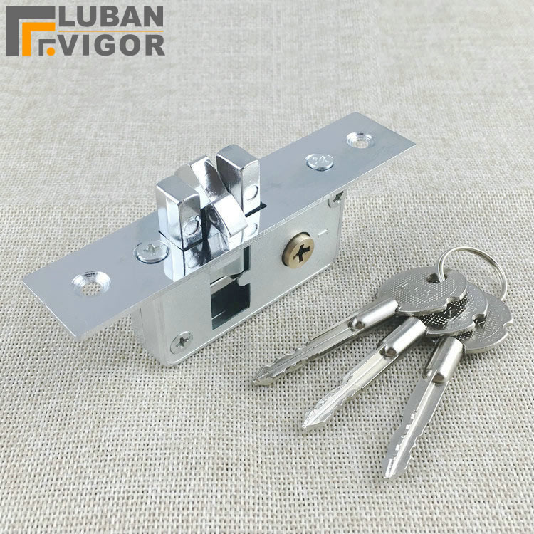 Invisible/Mortise Lock,Pull Gate Hook Lock,Alloy Lock Body,For Framed Glass Door,strong, Durable,Door Hardware