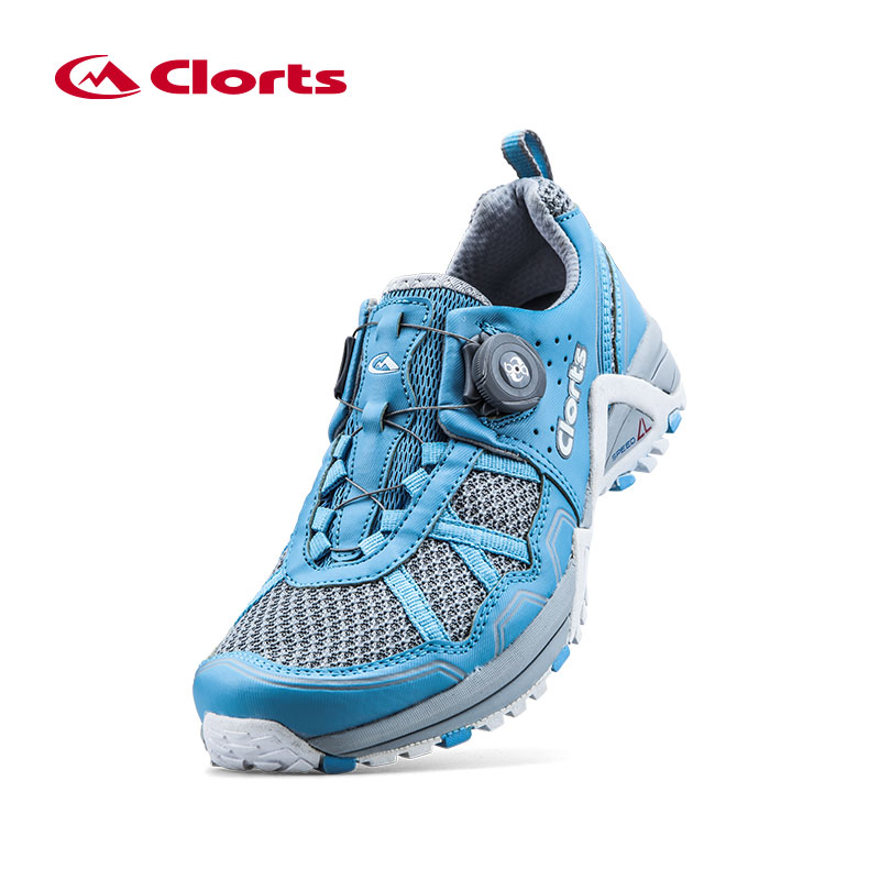 Clorts Women Running Shoes Lightweight BOA Lacing Outdoor Shoes Breathable Sport Running Sneakers for Women 3F013 2017 clorts men trail running shoes boa fast lacing breathable light weight sport shoe mesh upper for men free shipping 3f013b d