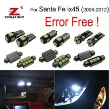 11 шт. LED номерной знак лампа + интерьер свет комплект пакет для Hyundai для Santafe Санта-фе ix45 (2006-2012)