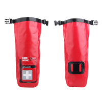 Portable Medical Bag Red Waterproof 2L First Aid Bag Emergency Kits Empty Travel Dry Bag Rafting