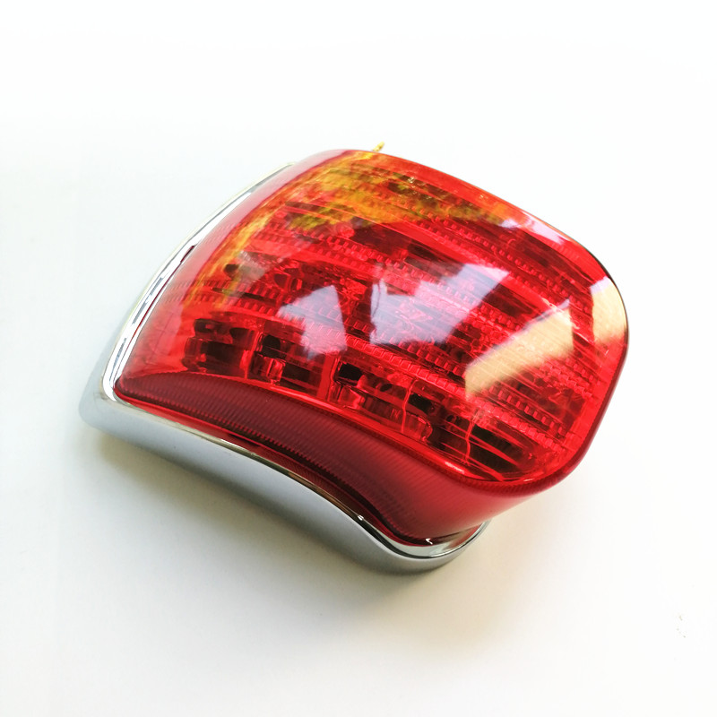 Motorcycle Rear Brake Lamp Taillight For  VESPA PX 125 150 200 REAR LIGHT LED CHROME BACK LIGHT TAIL LAMP