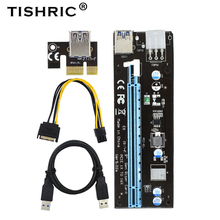 цена на TISHRIC 10pcs Riser Card VER902A PCI E PCI-E PCI Express Converter 1x To 16x Adapter Sata Ide Usb Extension Cable For Btc Miner