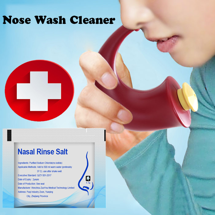 JECPP Nose Cleaning Machine Neti Pot Adults Children Nasal Wash Sinus Allergies Relief Rinse Cleaning Tools 200ml Dropship