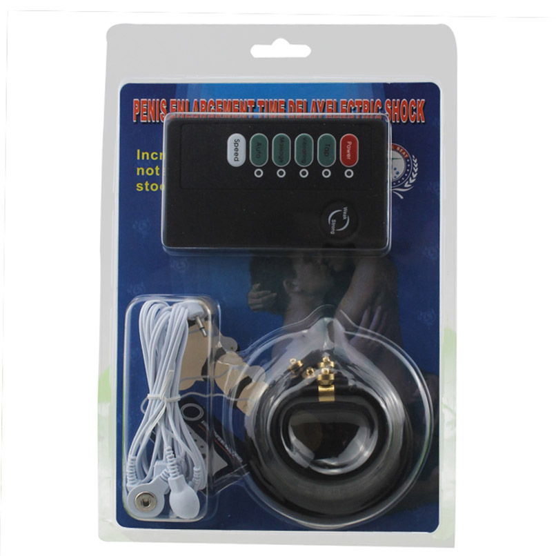 Double Out Put Host Male Electro Shock Penis Rings Therapy Ring Electric Shock Massagers Sets font