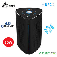 ADIN Vibration Speaker 36W Bluetooth Speakers Wireless Subwoofer Metal NFC Stereo 3D Surround Touch Computer Speaker for Phone