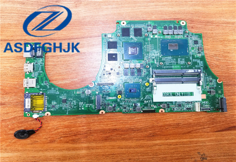 Carte mère d'ordinateur portable DAAM9AMB8D0 fon Dell fon Inspiron 7559 carte mère 31AM9MB00R0 SR2FQ DDR3L Non intégrée 100% Test ok