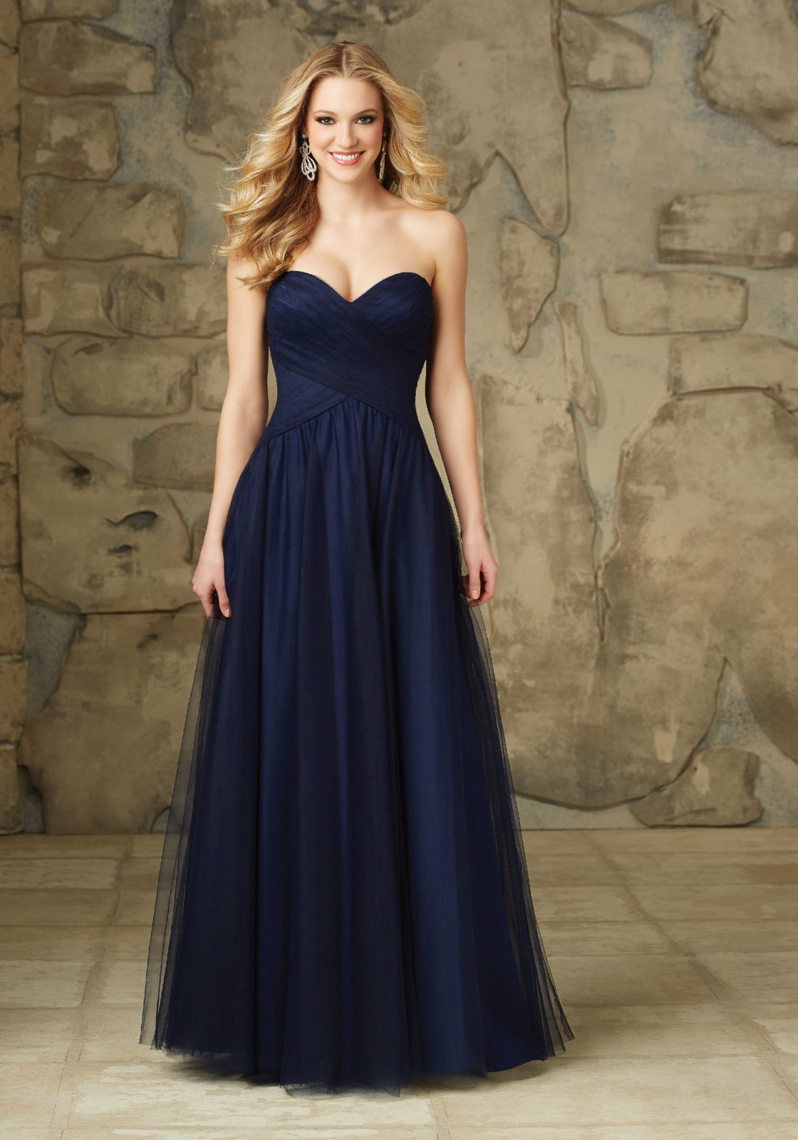 Compare prices on navy tulle bridesmaid dresses online shopping navy blue long tulle bridesmaid dress 2017 sweetheart pleated cheap plus size wedding party dress maid ombrellifo Image collections