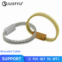 USB Cable Bracelet For iPhone X 7 8 phone Charger Portable Micro USB Data Sync For Samsung S9 Android Type-C Cable Fast Charging цена