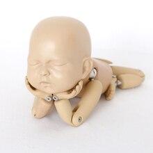 Fotografia recém nascido adereços bebês foto acessórios do bebê posando boneca articulada bola articulada boneca simulação brinquedo de treinamento