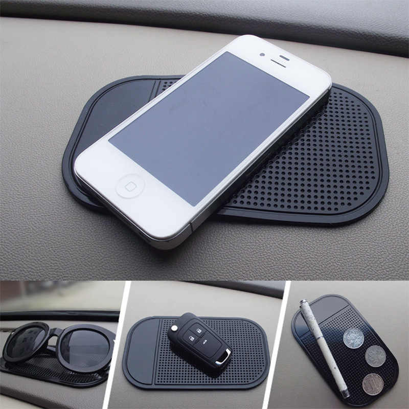 Car gadget spider anti slip mat auto interior dashboard phone coin gel pads fixed gel double sided car non-slip mat 13*7cm