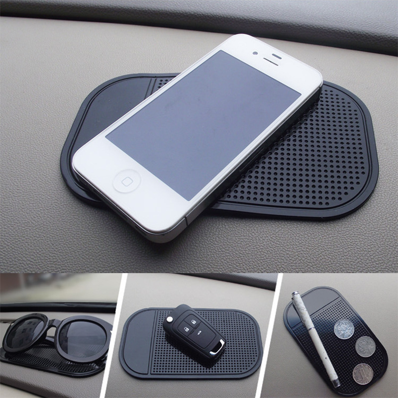 Transer Silica Gel Magic Non Slip Mat Mirrors Metal Anti-Slip Sticky GEL Pad 10, Black Kitchen Cabinets or Tile Car GPS and many more Mobile Phone can Stick to Glass