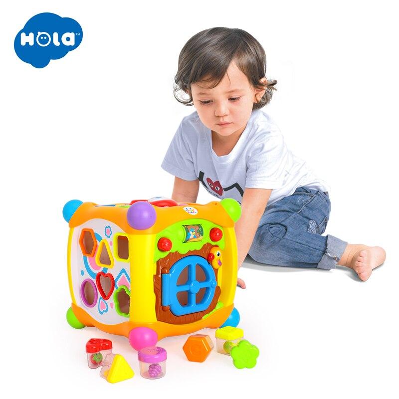 Enfants apprenant des jouets éducatifs magique parlant activité Cube Box Play Center avec des lumières, de la musique et plus de fonctions bébé jouets 18 m + - 5