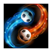 Diy 5d diamond painting water fire football embroidery living room bedroom cross stitch household items decoration  RL03