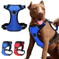 Reflective Nylon Dog Harness Night Safety Mesh Adjustable Vest With Quick Control Handle For Small Meduim