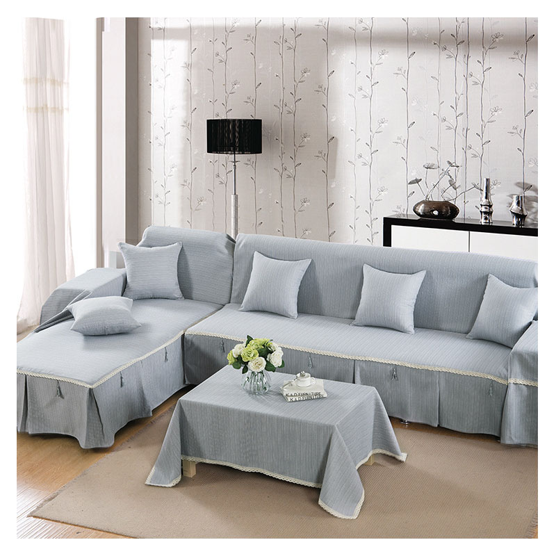US $12.51 46% OFF|3 seater sofa cover solid anti slip sectional slipcovers  rectangle furniture covers modern corner couch covers for living room-in ...