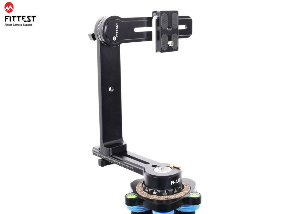 FITTEST R 15 Mini Compact Panoramic Head for Outdoor Shooting 360 Swivel PanoTripod head Gimbal Bracket