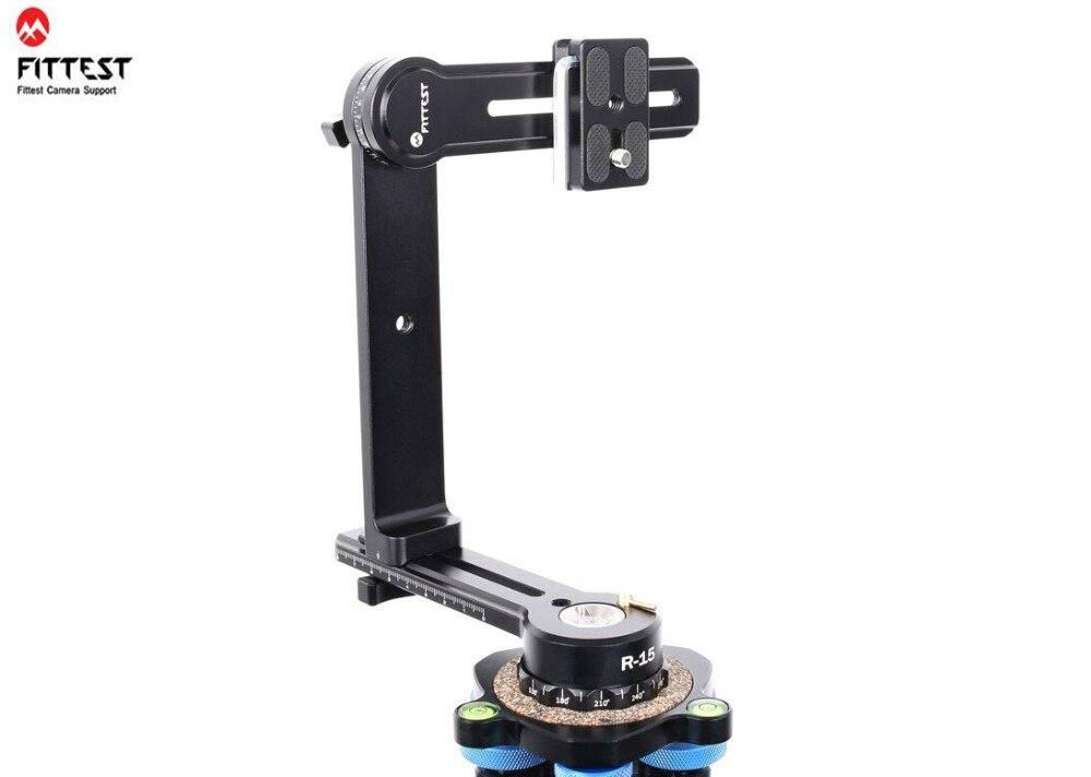 FITTEST R 15 Mini tête panoramique compacte pour la prise de vue en plein air 360 tête de panotrépied pivotant Kit de support de cardan pour Canon Nikon R15-in Tête de trépied from Electronique    1