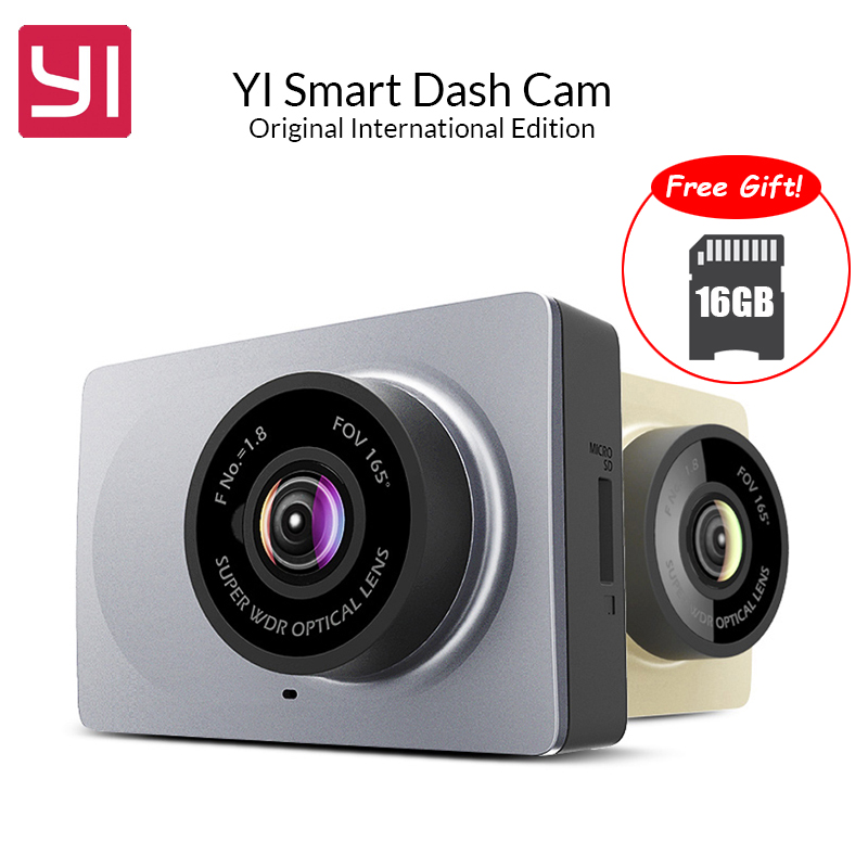 International Edition YI Smart Car DVR WiFi 165 Degree ADAS Dash Cam Camera