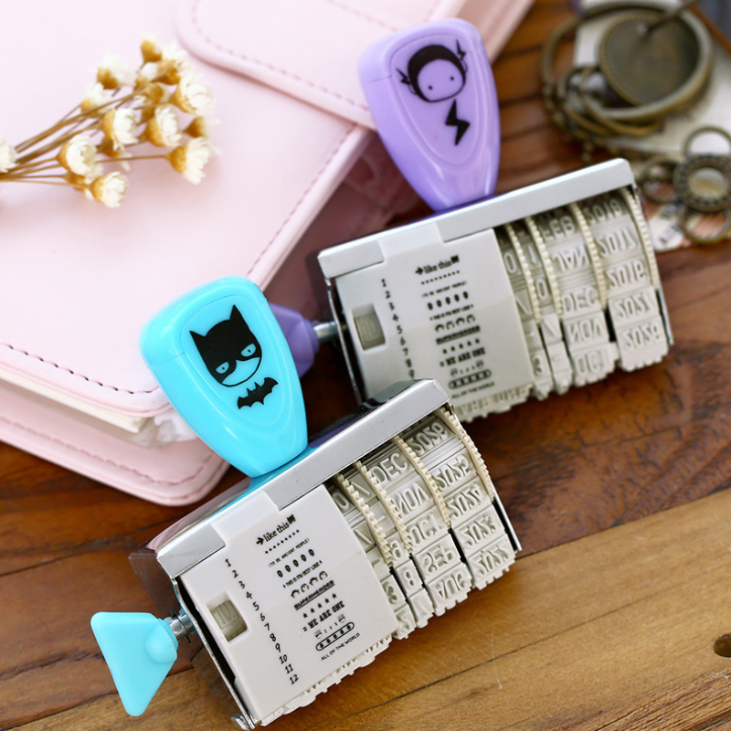 1 x  cute Cocoa Kingdom roller stamp DIY  date stamps for scrapbooking stationery zakka decal material escolar school supplies