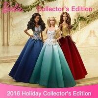 Genuine Top Brand Barbie 2016 Holiday Dolls For Girls Princess Christmas Birthday Toys Girls Original Barbie Dolls