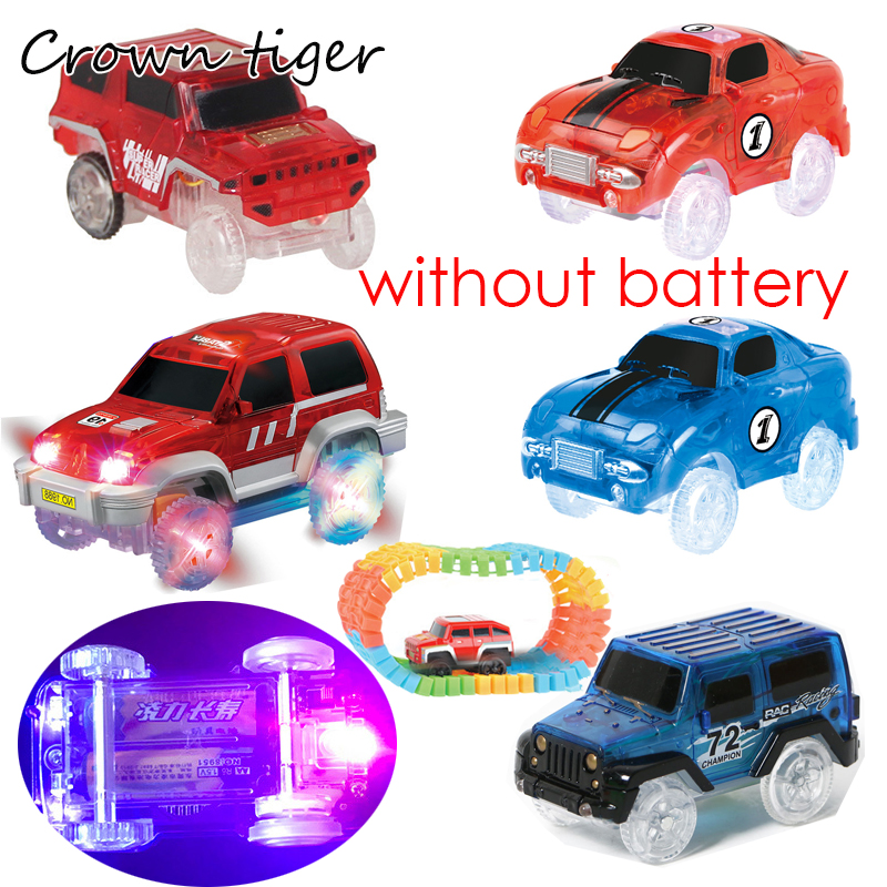 Electronic LED Car Toys Flashing Lights Mini Race Track Car Kids Flexible Racing Cars Play with Glow Race Track Toy Boys Gift go-kart
