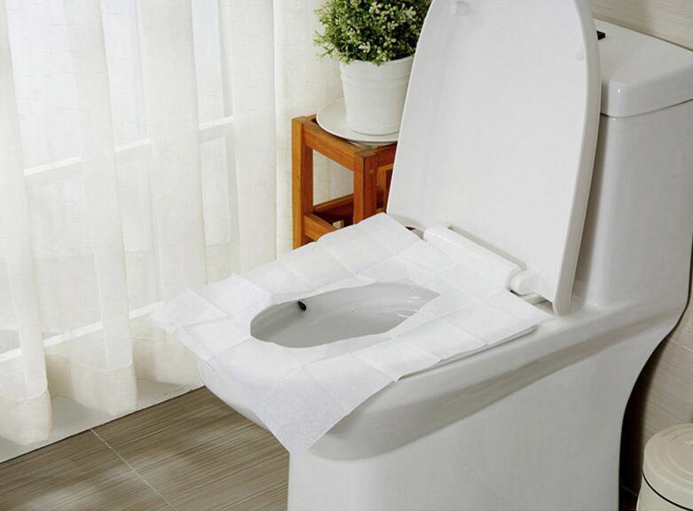 Disposable Toilet Seat Cover Mat portable étanche Sécurité Pad de voyage//camping//BAIN