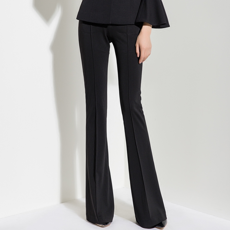 2019 Spring and Autumn New High Waist Micro Bell Pants Fall Feeling Long Pants Female Thin Drooping Trousers Wide Leg Pants Pants & Capris     - title=