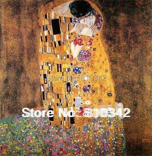 Doprava zdarma ručně malované domácí výzdoba slavné moderní umění nástěnné plátno umění Klimt olejomalba The Kiss
