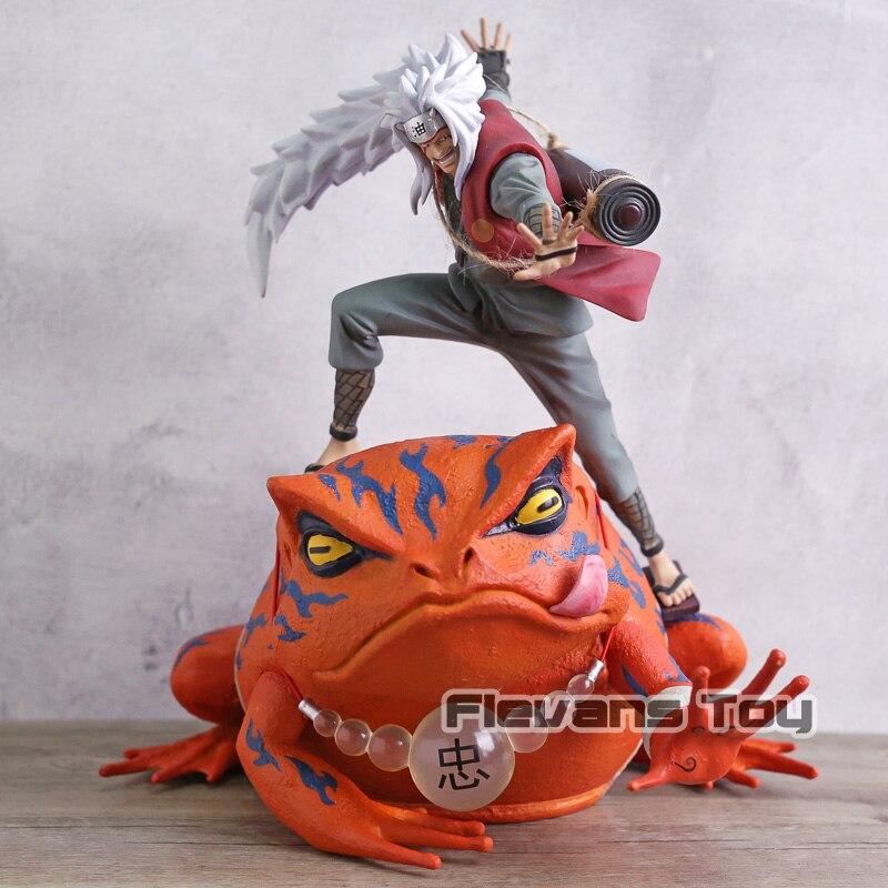 Naruto Shippuden Jiraiya Gama Sennin Gama Bunta GK Statue Figure Toy Brinquedos Figurals Collection Model Gift