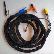 TIG фонарь 150A GTAW пистолет 4 метра кабель питания 2pin контрольная вилка QQ150 интегрированный газовый разъем для сварочного аппарата TIG