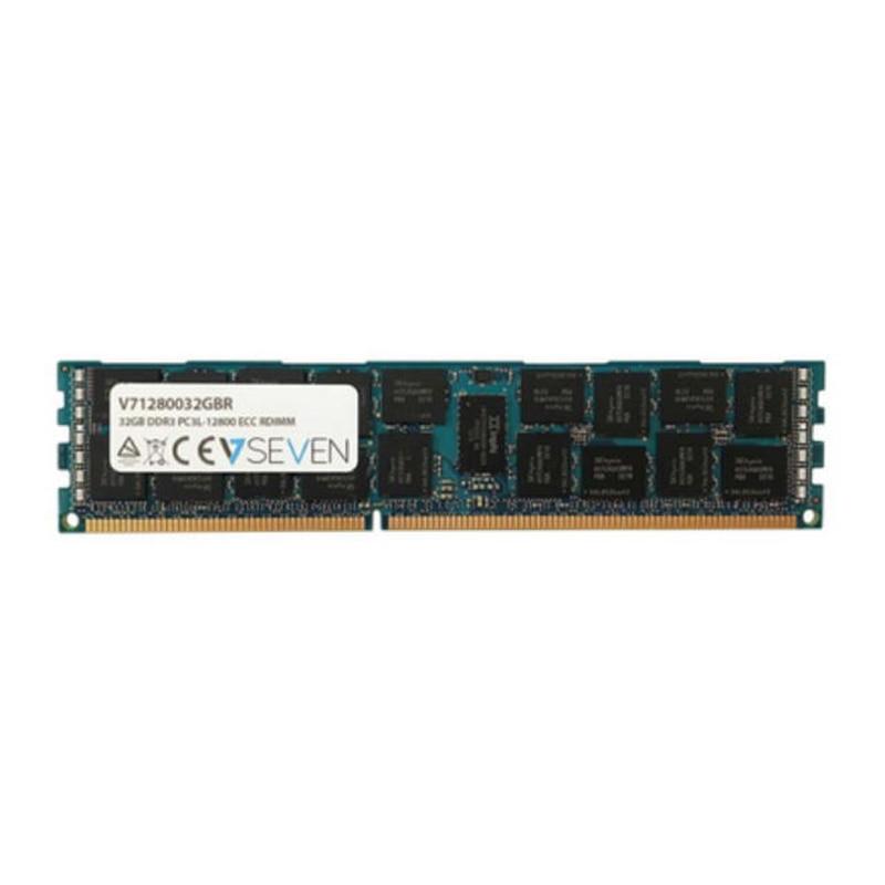 V7 32 GB DDR3 PC3-12800-1600 mhz serveur ECC REG serveur modulo de memoria-V71280032GBR, 32 GB, 1x32 GB, DDR3, 1600 MHz, 240-p