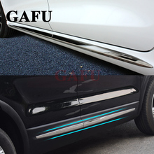 Chrome Orginal Body Side Garnish Moulding Trim For FIAT 500x Car-styling Accessories 4 PCS