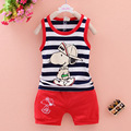 heat! 2016 baby boy clothes suit vest + shorts children set baby girl cartoon summer suits Free shipping Beibei infant clothing
