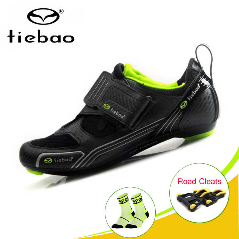 TIEBAO pro cycling shoes road Athletic Racing Triathlon Bicycle Shoes Breathable self-locking riding shoes road bike sneakers