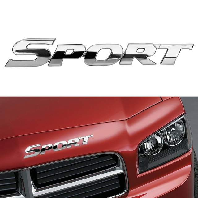 LEEPEE-autocollant de porte automobile | Badge demblème de SPORT, universel de voiture, Logo en ABS 3D pour Toyota Highlander BMW HONDA KIA