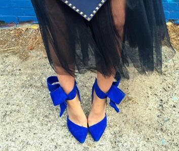 Gran Bowtie Corbata de tobillo Sandalias de gladiador Mujeres Rojo - Zapatos de mujer - foto 2