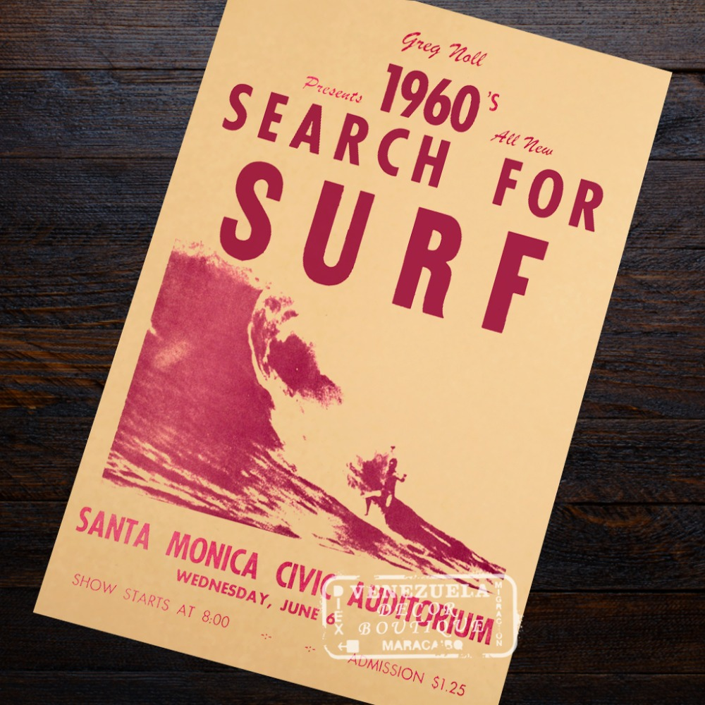American Spirit Surf California Landscape Travel Classic Retro ...