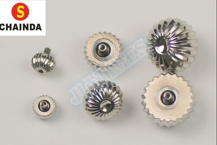 36pcs New Steel Silver and Gold Watch Crown Pumpkin or Pendent Type for Watch Repair ar 3156 подвеска бабочка юнион