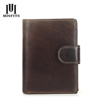 New Genuine Leather Passport Bag Men's Money Wallets Multi function Card Holder Large Capacity Man Short Wallet With Coin Pocket