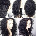 High Quality Afro Kinky Curly Lace Front Wig  Black Synthetic Lace Front Wig Cute Synthetic Curly Wig for Woman with Babyhair