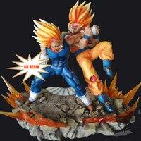 1/6 Dragon Ball Z GK Resin Figures Model Super Saiyan Son Goku VS Vegeta Action Figure Brinquedos Model For Collection Toys