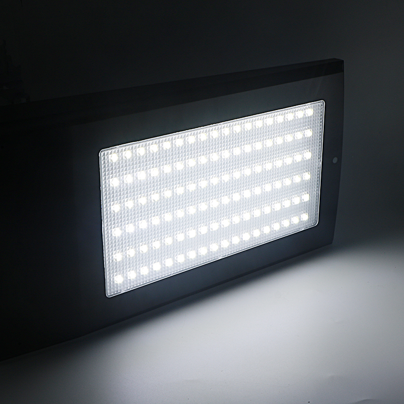 SZYOUMY 15W 108 LEDs 2100LM Solar Powered Radar Motion Sensor Wand Licht Im Freien Wasserdichte Energiesparlampe Straßen Hof pfad - 6
