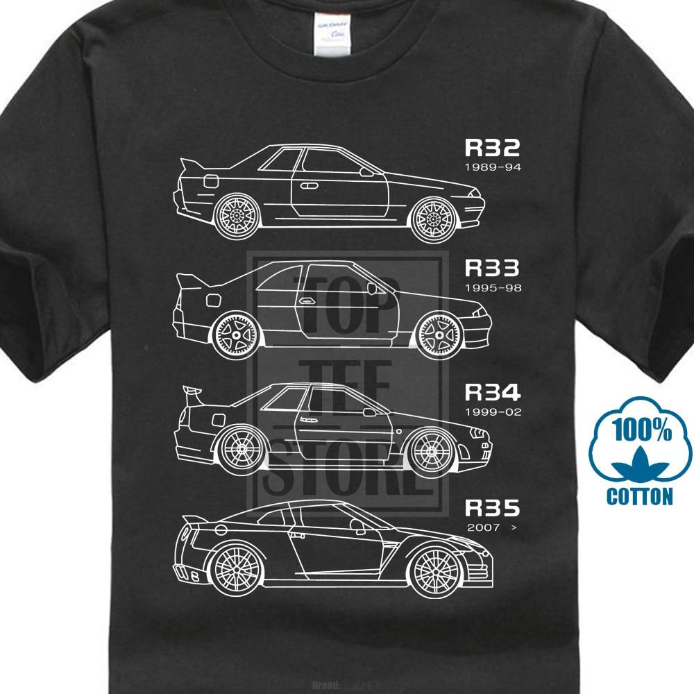 Japanese Classic Car Gtr Skyline Tshirt For Drift Fans T ...