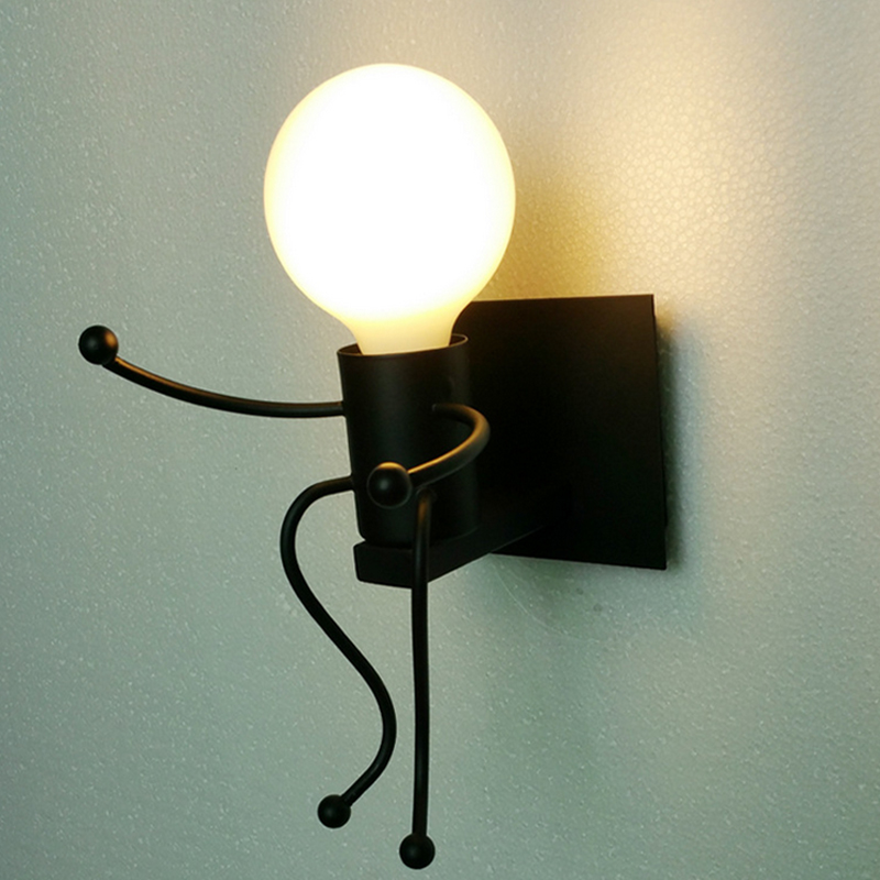 LumiParty E27 Modern Metal LED Wall Light Cartoon Robot Sconce ...