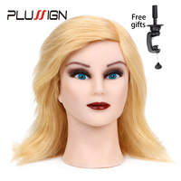 Plussign Female Mannequin Head 100 Human Hair With Stand 613 12 Shoulder Length Hairdresser Training Hairstyle