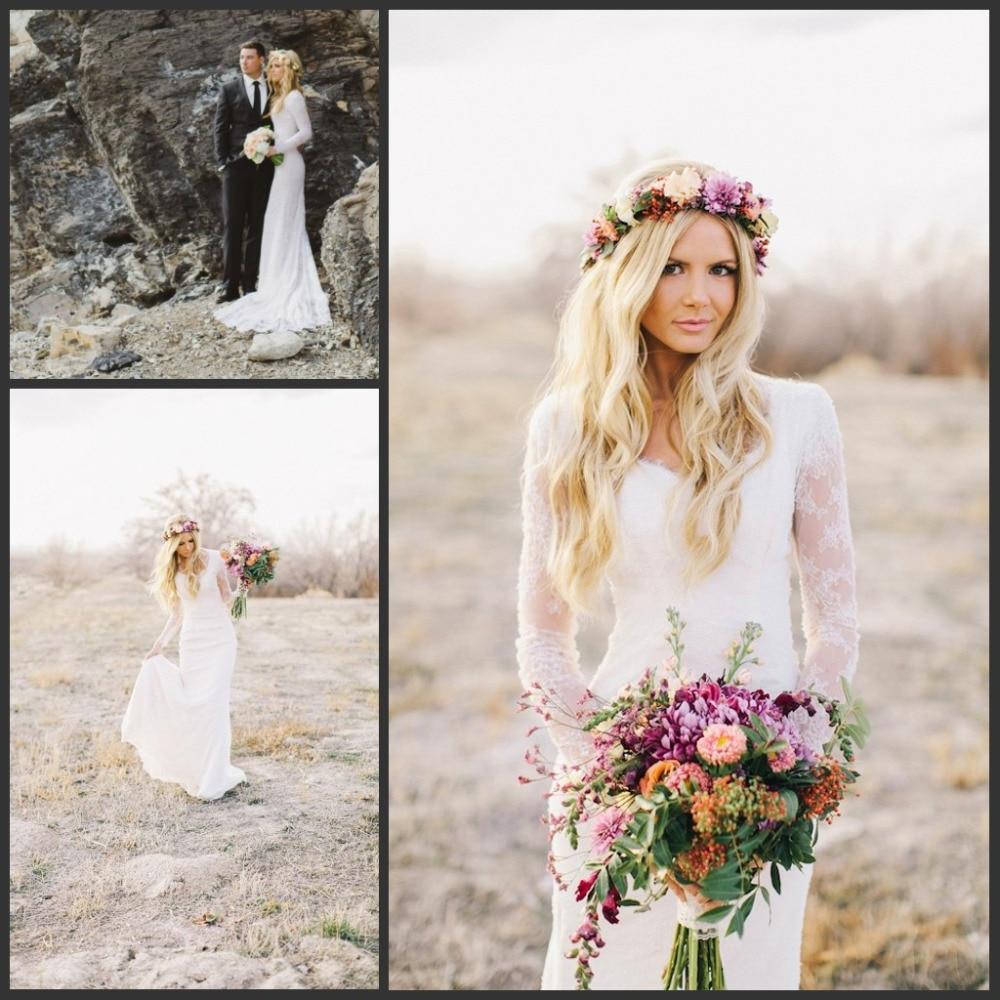 Buy 2016 beach boho bridal wedding gowns for Bohemian style wedding dresses for sale