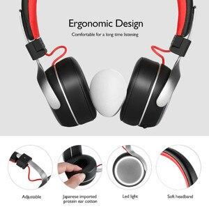 Image 2 - Oneodio A8 Bluetooth אוזניות עם מיקרופון LED אור סופר עמוק בס מתכת מתקפל ספורט Bluetooth 4.2 אוזניות אלחוטיות