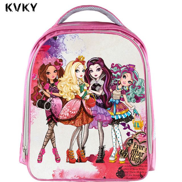 Ever After High Dolls Backpack Children School Bags Cute Monster