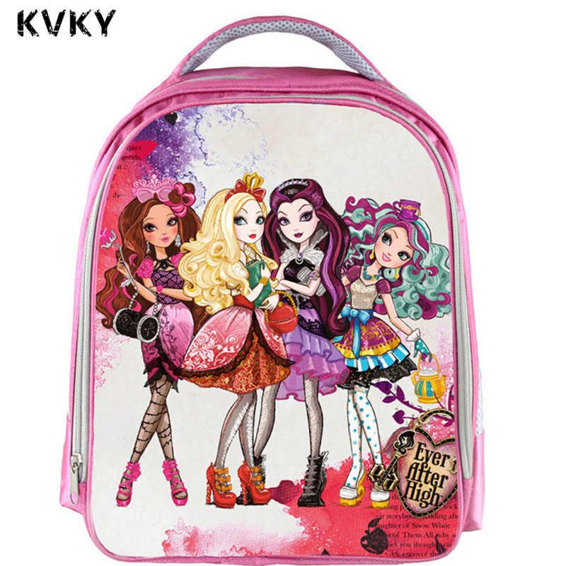 b85267453332 Ever After High Куклы рюкзак детей Школьные ранцы милый монстр высокой Для  женщин мультфильм Книга школьный